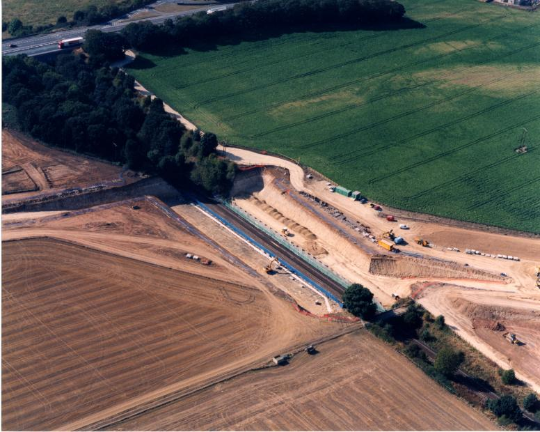Fairburn Railway bridge Reinforced Earth walls progressing