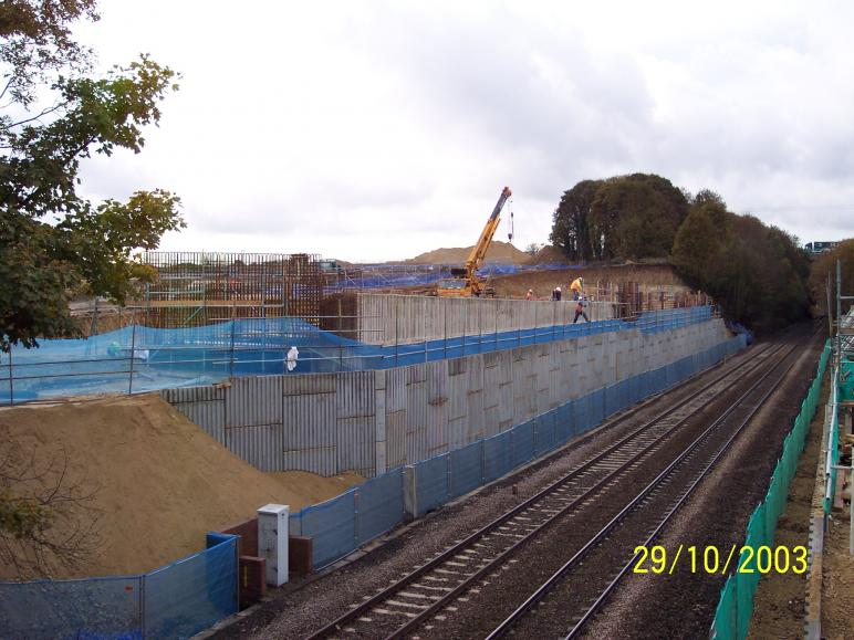 South Abutment progressing but its a race against time to meet the possession date.
