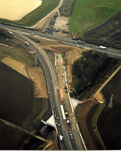 South Bound diversion route open to traffic - North bound still on the old A1M