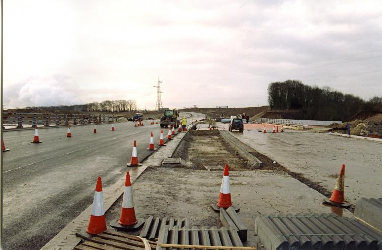 Works progressing over the deck with the diversion route for south bound traffic almost ready.