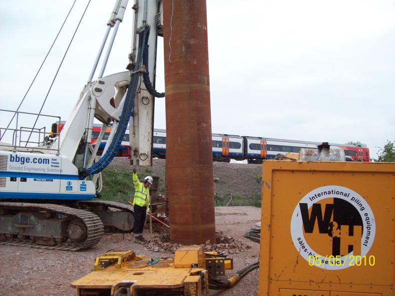 Third Scale casing being installed during the trial.