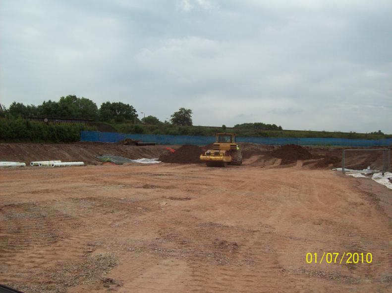 North side access being created  ramp being installed