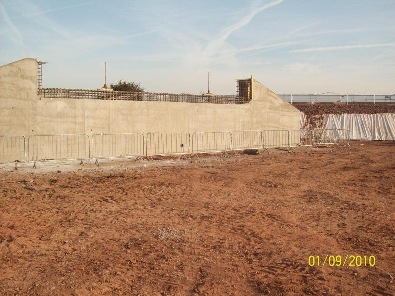 Re-cast West abutment formwork removed.