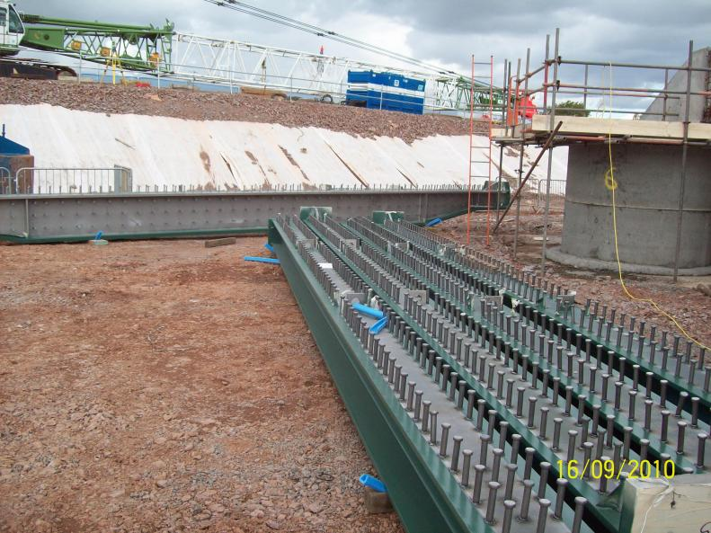 Mabey Bridge Steel work starting to arrive on site.
