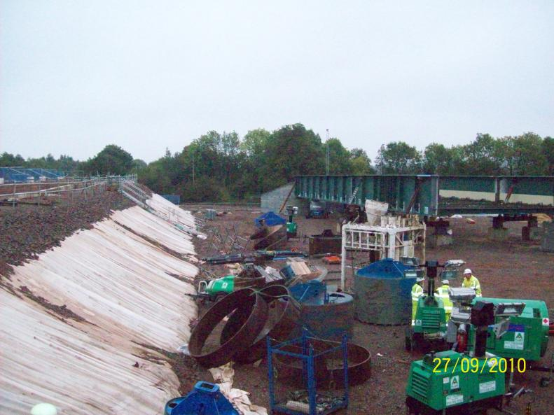 Final piles installed BBGE clearing site.