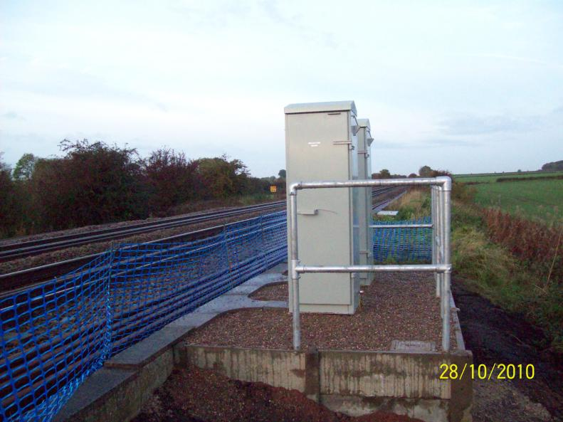Two new signal cabinets built and installed by Global Rail.