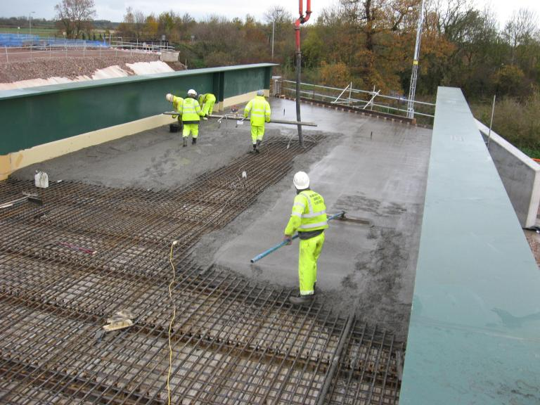 East End of the bridge deck being cast by MRC