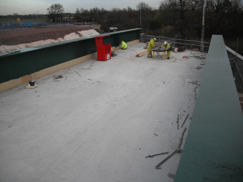 Deck being cleared and worked on.