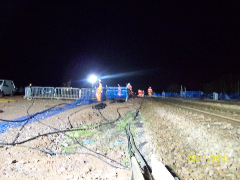Phase II cable move by Global Rail.