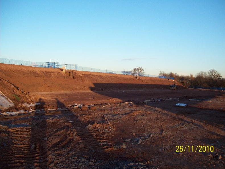 Bridge Build area levelled and stoned up ready for drive path.
