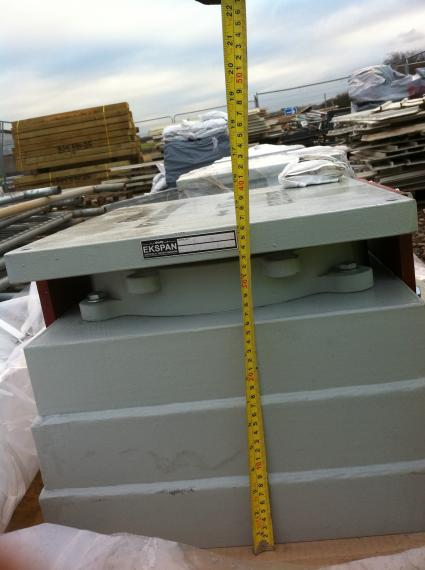 Bearings delivered to site being checked=