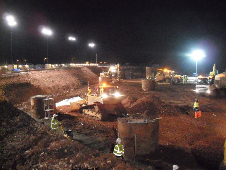 6F5 being placed in the western drive path.