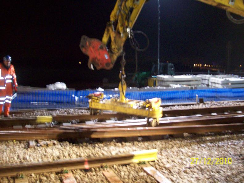 Problems with the rail lifting equipment on the RRV.