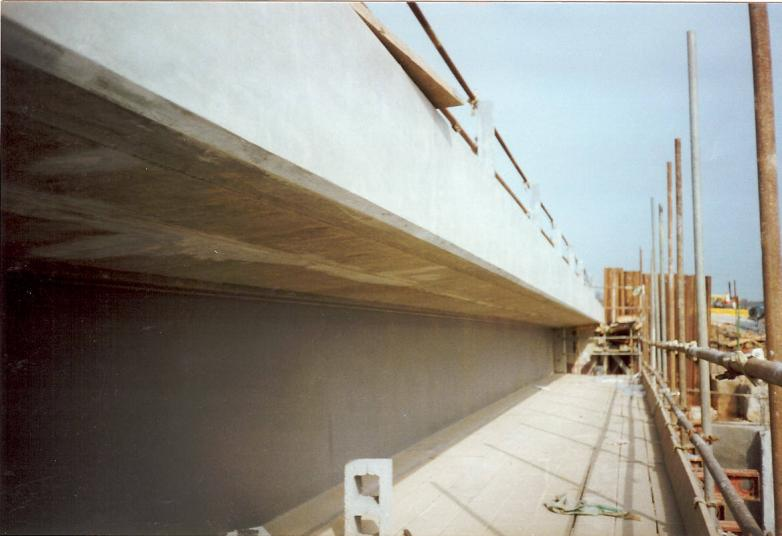 Parapet Formwork and Falsework removed