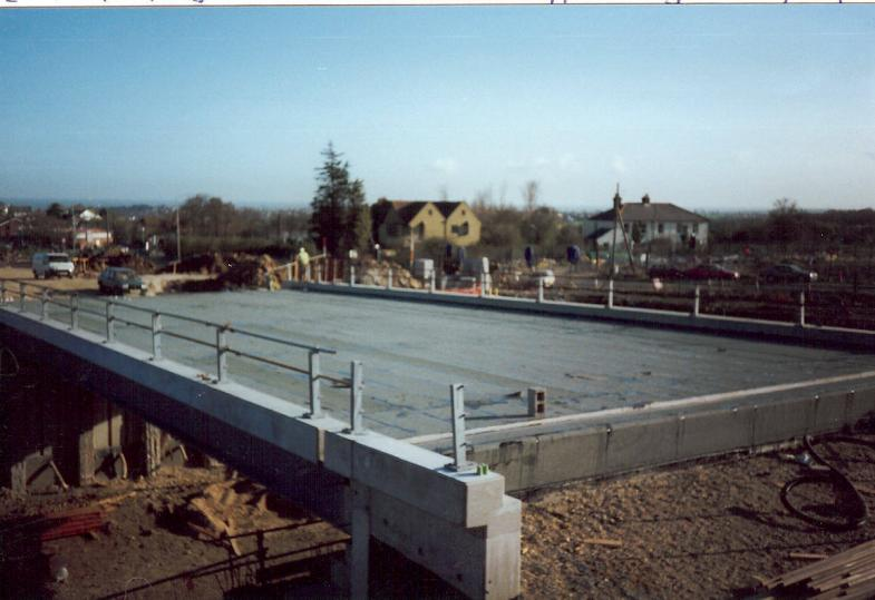 Waterproofing completed on the deck