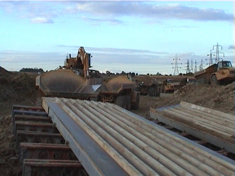 Central pier Formwork being prepared for erection
