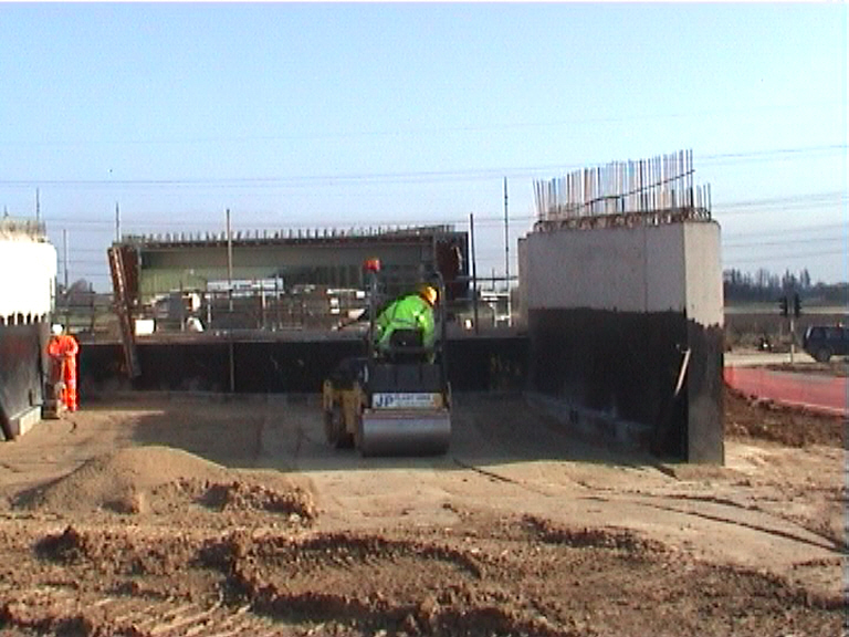 Back fill ongoing on the West abutment