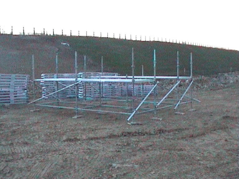 Scaffold trame made up to build Multiform tables