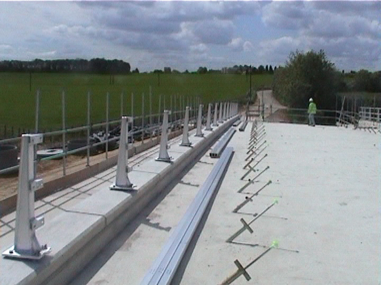 N2 Parapets being installed on the deck
