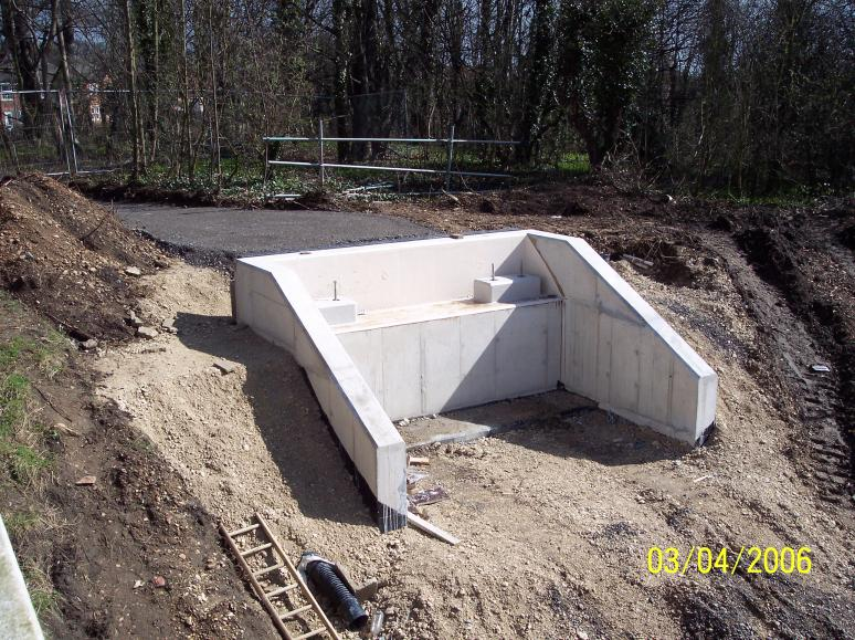 Abutment completed