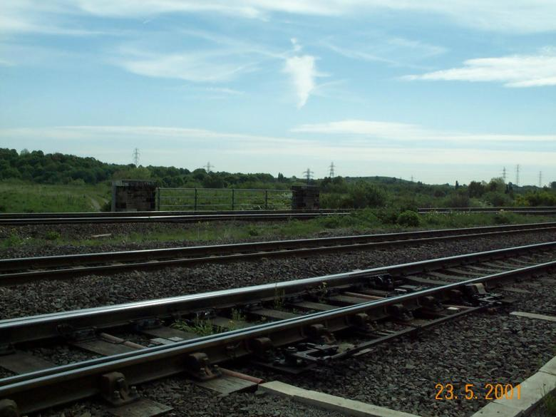 View at track level looking over towards CTL3 Parapets