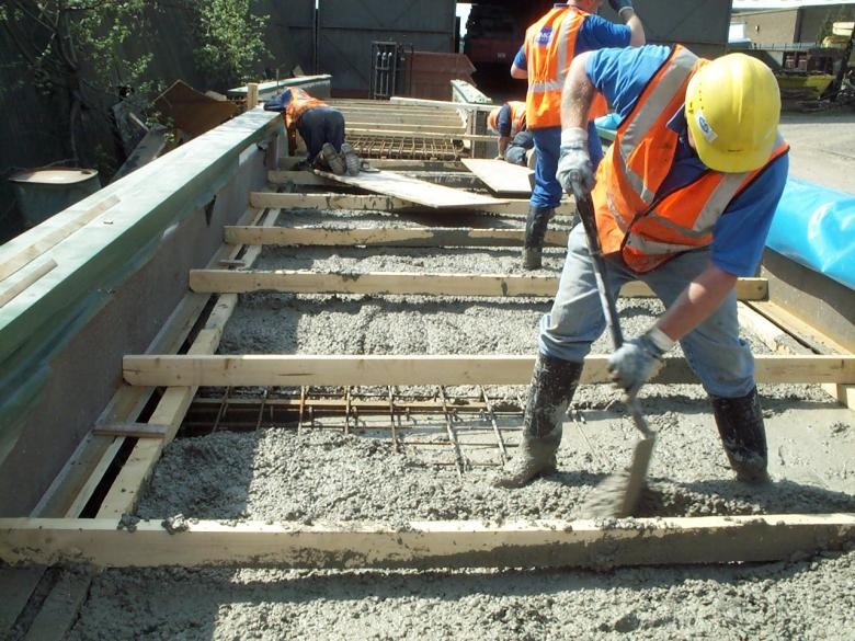 Bridge Deck being concreted in the Yard in Doncaster.