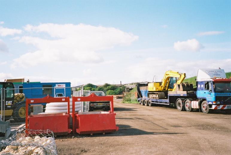 Equipment and plant being delivered to the site ready for the possession.