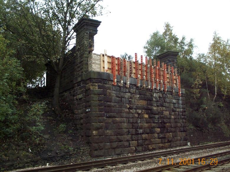 North Abutment Formwork set for Mass fill.