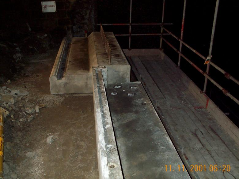 Concrete Impost units lifted in during possession.