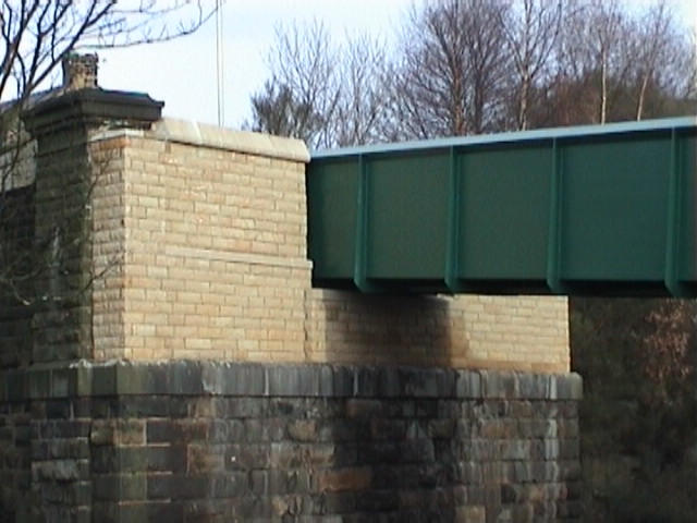 North Abutment stone facing completed.