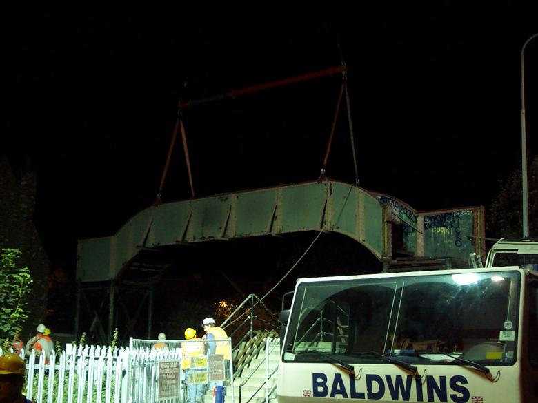 Existing Bridge lifted out