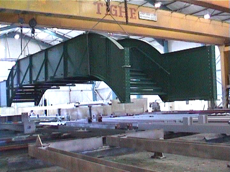 Bridge being loaded at Tighes