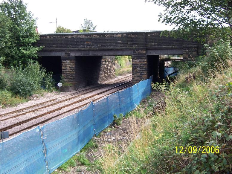 View on the Existing bridge as work progresses.