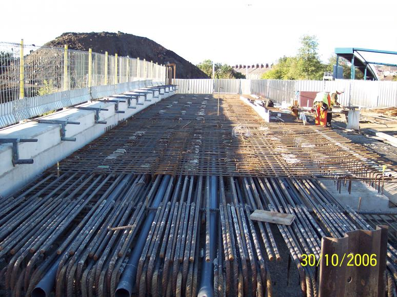 Bridge Deck - steel fixing to the deck.