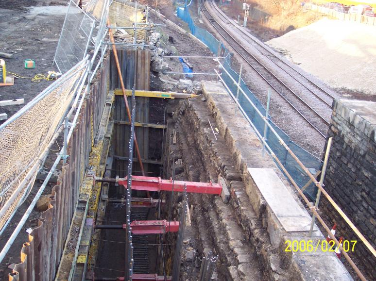 South Abutment steel fixing in progress