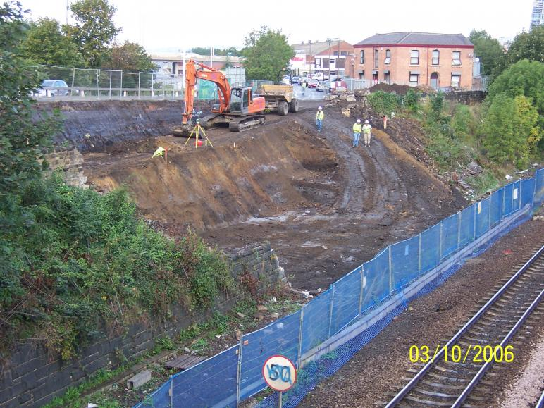 Dig on going on the South Abutment