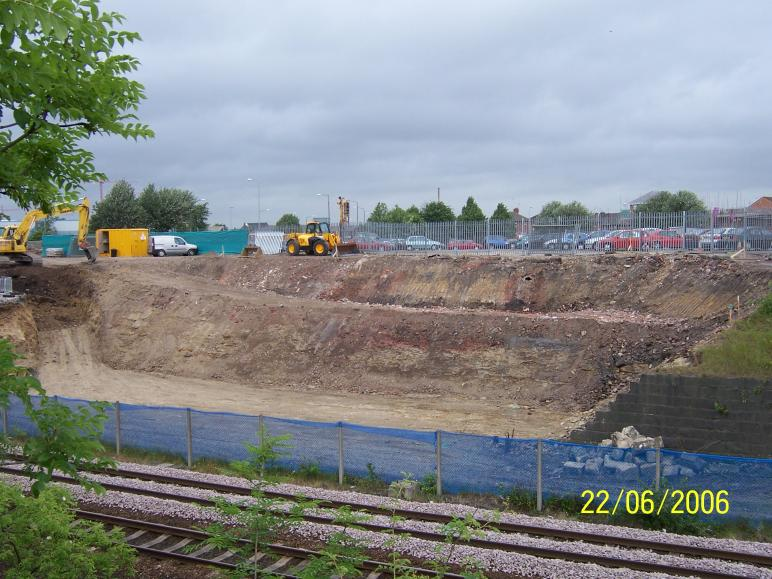 North Abutment excavated down to level ready for grouting