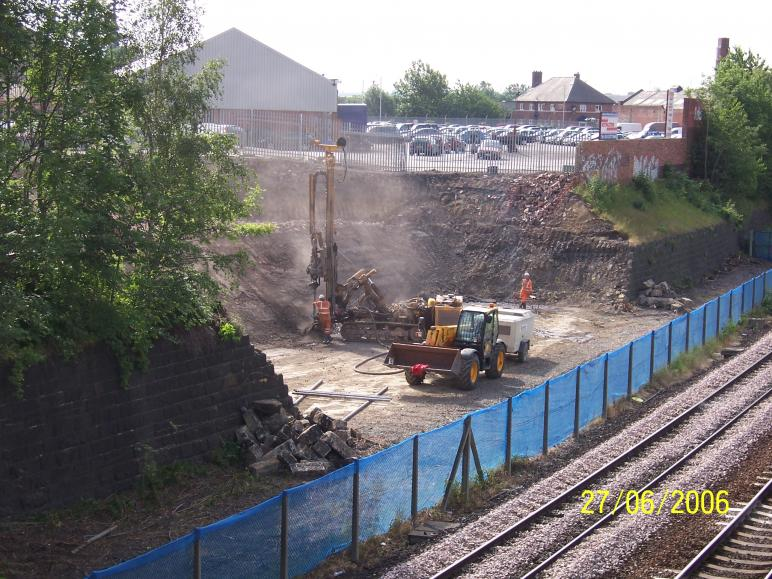 North Abutment drilling and grouting