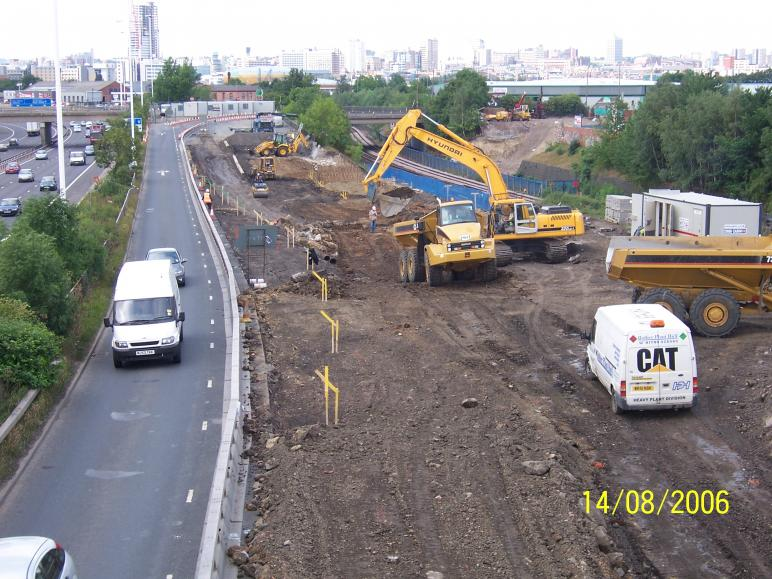 South Abutment Dig in progress