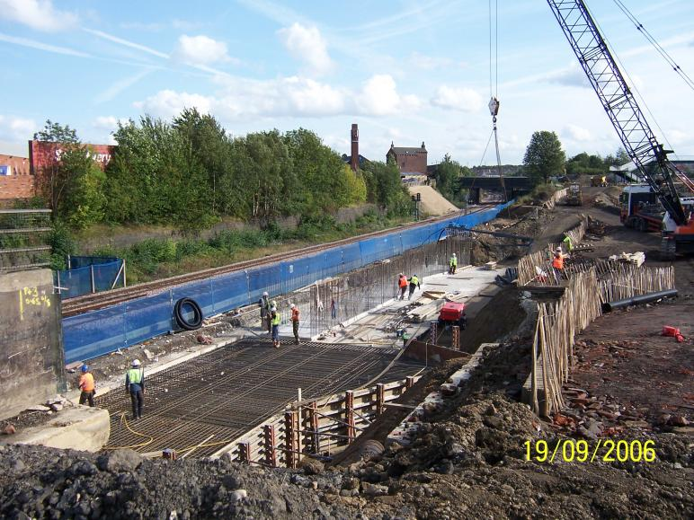 South Abutment 2nd Base Steel fixing.