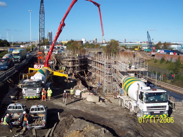 South Abutment - 1st section being cast