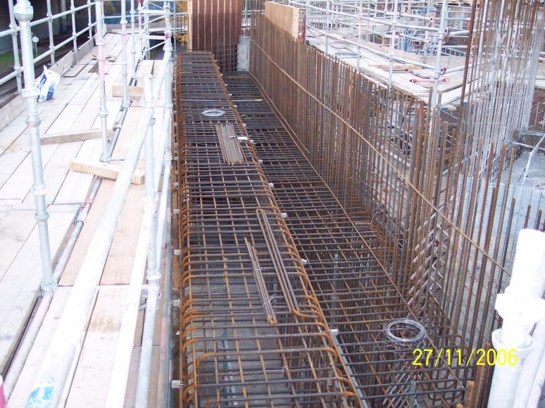 North Abutment - Reinforcement being fixed ready for Formwork.