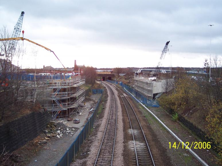 North Abutment being cast