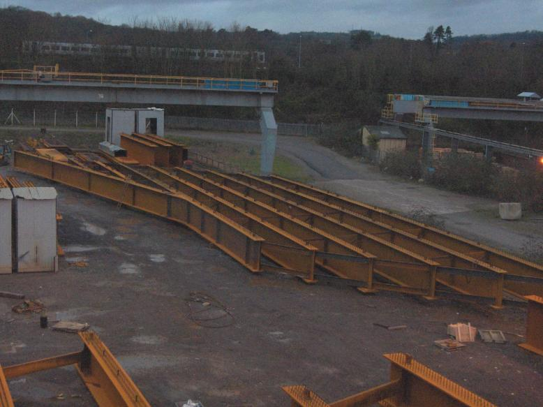 Trial erection at Fairfield Mabey's Yard