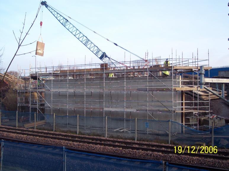 North Abutment - formwork being removed