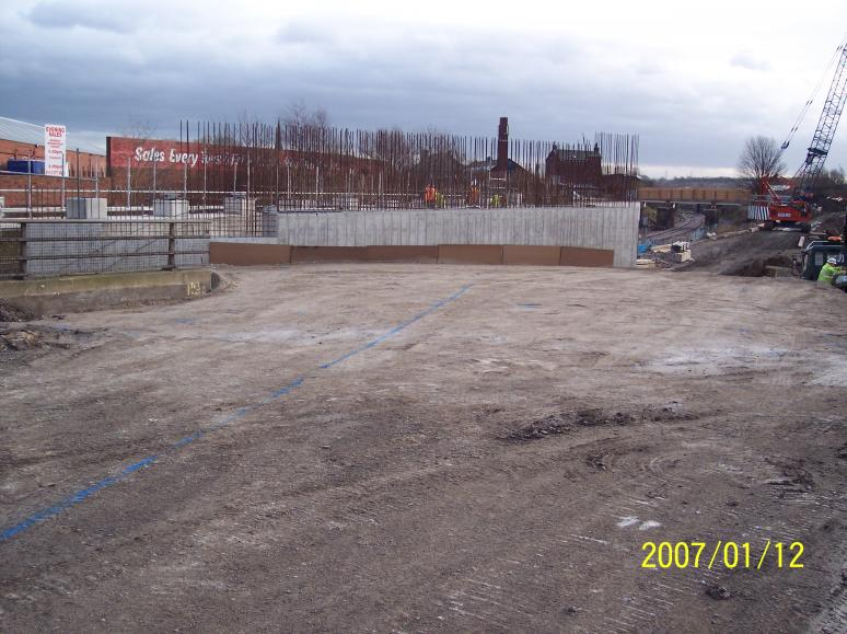 Backfill to the Back of the South Abutment