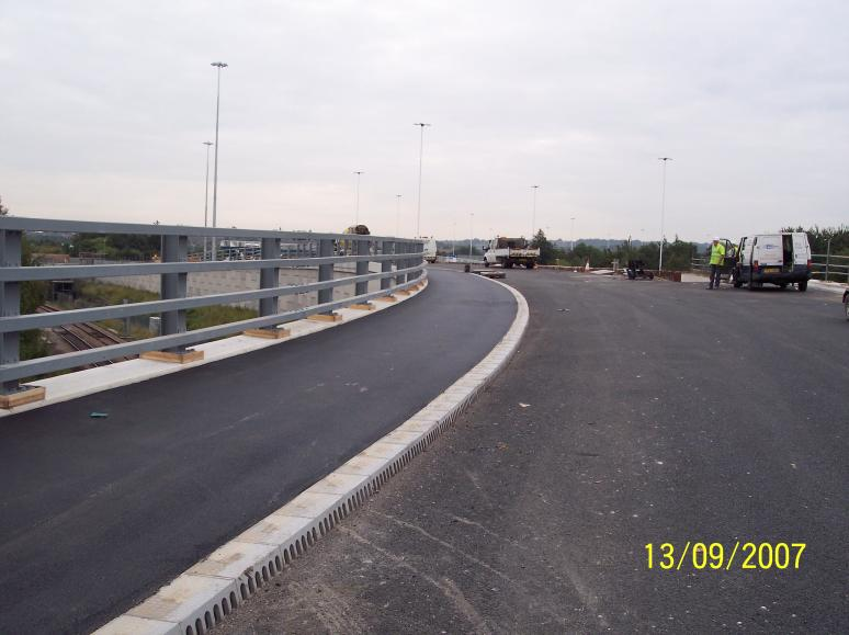 Footpath being blacked over the bridge
