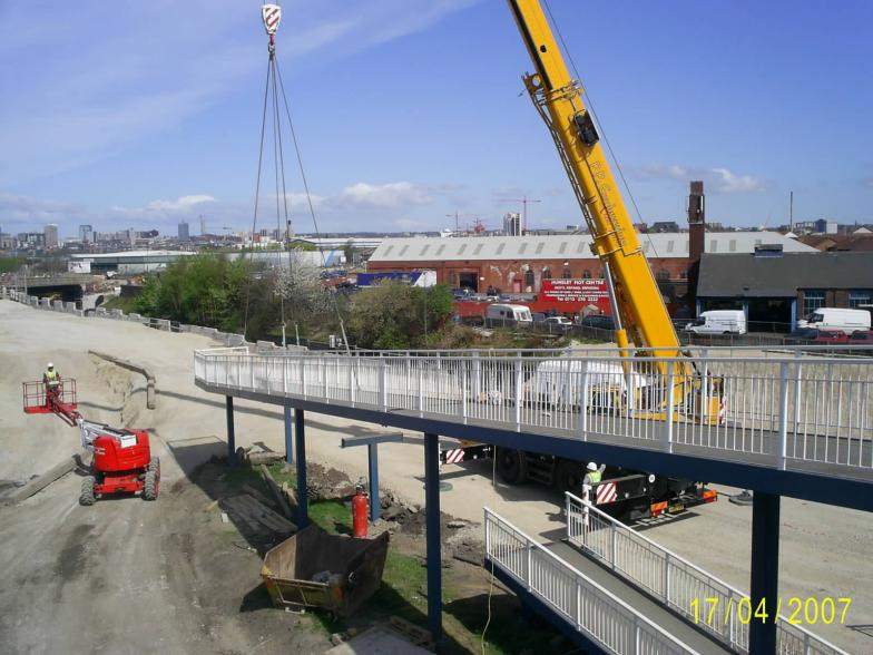 Old Footbridge Ramp switched + crane removal