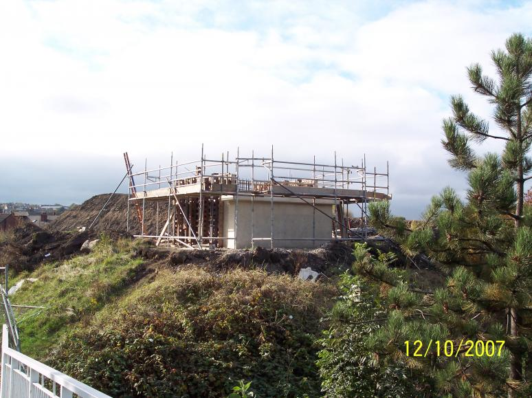 Abutment under construction