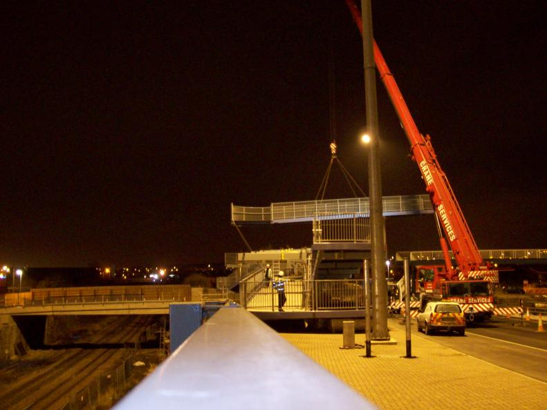 Ramps being erected on nights
